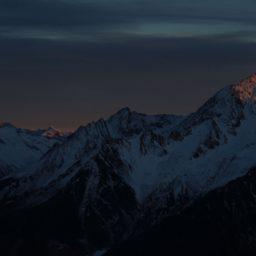 Sonnenuntergang auf der Piste