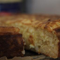 Orangen-Milchreis-Kuchen aus Italien