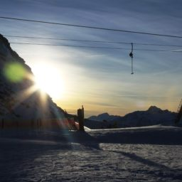 Gletscherabfahrt vor Neujahrseinfahrt