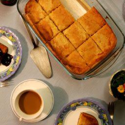 Ahvenanmaan pannukakku – Finnischer Grießkuchen mit Kardamom