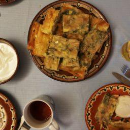 Banitsa sas Spanak – Bulgarische Teigröllchen mit Spinat und Feta