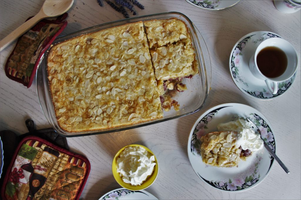 ReiseSpeisen Kirschkuchen Clafoutis Frankreich Blogparade Saisonal backen