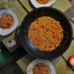 Channa Shakarkanad – Indisches Süßkartoffel-Kichererbsen-Curry mit Cashews und Kokosmilch