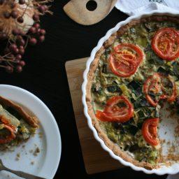 Einfach französisch backen: Grüne Gemüse-Quiche mit Lauch