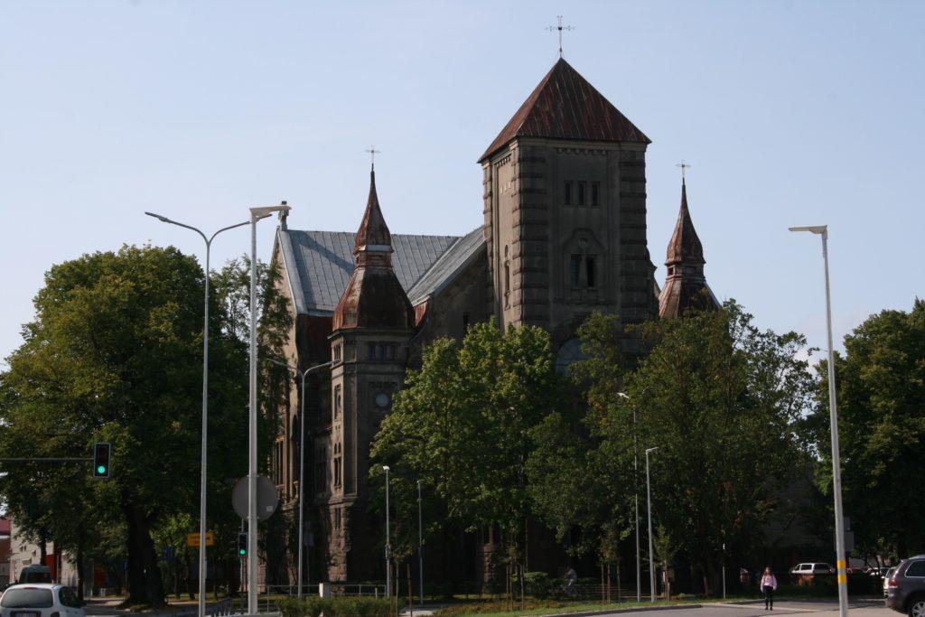 ReiseSpeisen I Lettland I Liepaja I Kirche Lutera Baznica außen
