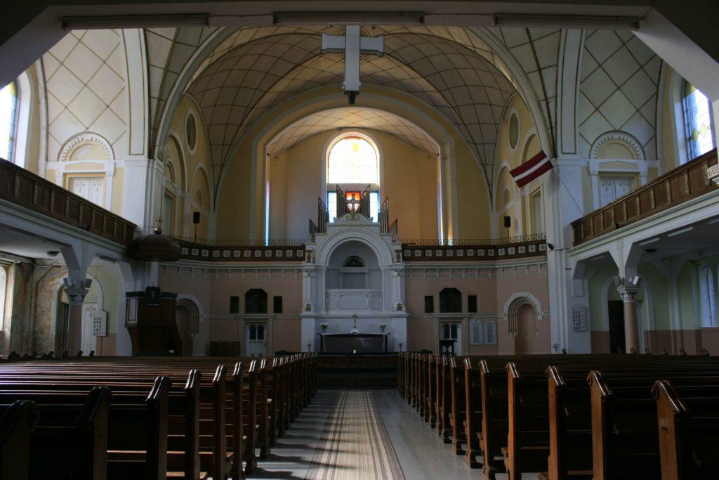 ReiseSpeisen I Lettland I Liepaja I Kirche Lutera Baznica innen