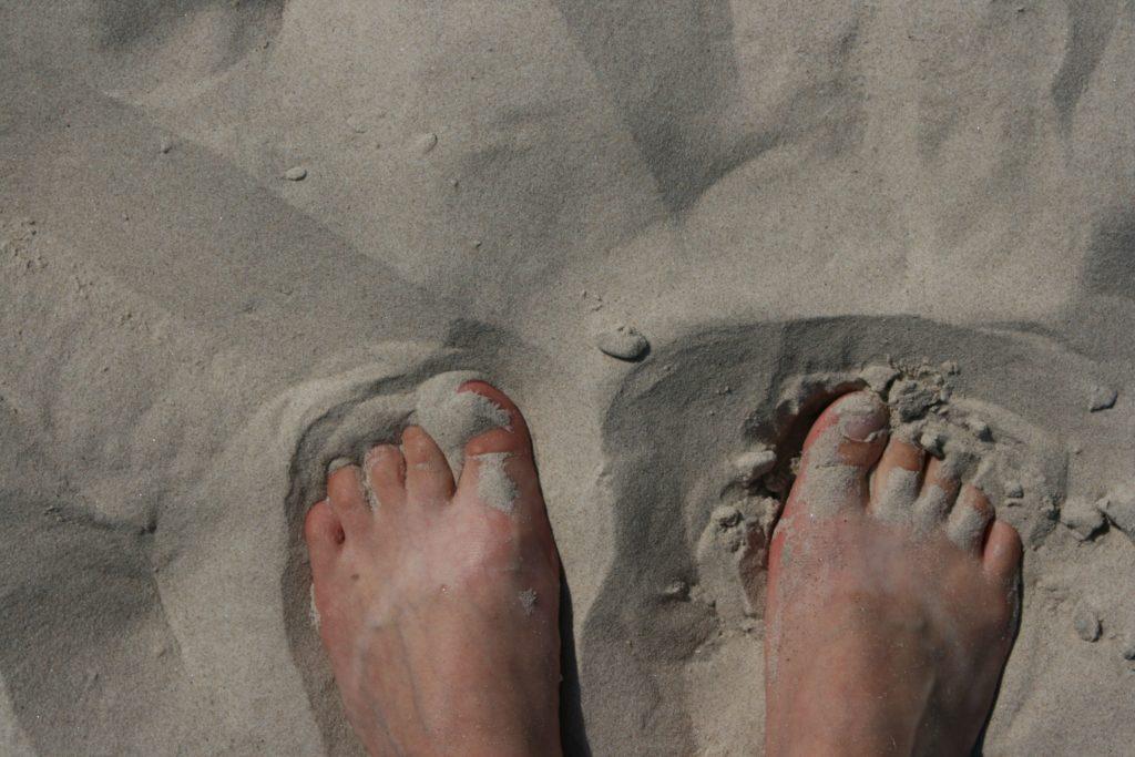 ReiseSpeisen I Lettland I Liepaja I Strand Füße